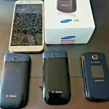 T-Mobile  Lot Of 4 - Samsung - T159  2 Alcatel 768- Samsung GalaxyJ7 Cell Phones