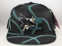 Kids Youth Size San Jose Sharks NHL Vintage Snapback Cap Hat American Needle