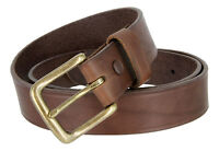 """Heritage - Full One Piece Leather Work Dress Casual Jean Belt, 1-1/4"""" Wide"""