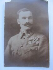 WWI Decorated German Soldier, Real Postcard Photo Showing Medals, Austria, GIFT