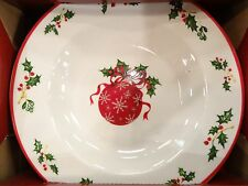 NEW Set of 4 Christopher Radko HOLIDAY CELEBRATIONS Flat Rimmed Soup Bowls