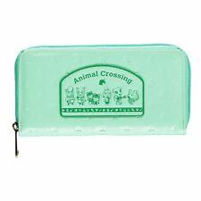 Nintendo Animal Cruce Logo Parche Cremallera Alrededor Cartera Mujer Verde