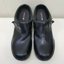 Merrell 10.5 Black Leather Clogs Shoes Mules Slip On Comfort 1349569