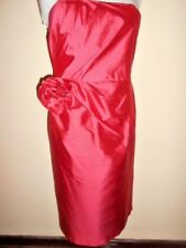 MOSS & SPY silk DRESS size 10 NEW&tags $449 watermelon strapless tucked evening