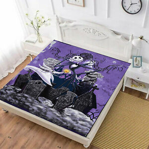 The Nightmare Before Christmas 3PCS Fitted Sheet Set Pillowcases Mattress Cover