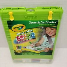 New Crayola Color Wonder Stow & Go Studio Drawing Storage Magic Without Mess Art