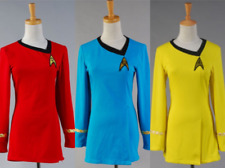 Star Trek TNG Female Duty Uniform Halloween Dress Cosplay Costume 3 Colors