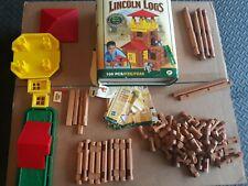 Lincoln Logs Frontier Junction 00915 Roy Toy 94002 partial set total 98/100 pcs