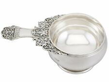 Antique George V Sterling Silver Quaich Style Bowl by Reid & Sons, 1920s