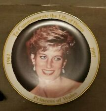 PRINCESS DIANA PLATE COMMEMORATIVE REMEMBRANCE  1997 PRINCESS OF WALES