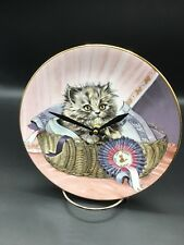 First Prize Cutest Kitty Cat 8 1/4 Inch Clock !