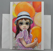 Walter Margaret Keane Greeting Card BIG EYES AT THE FAIR 1962 Blank Burton