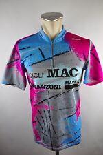 Santini vintage MAC Bike cycling jersey maglia Rad Trikot Gr XL 51cm W1