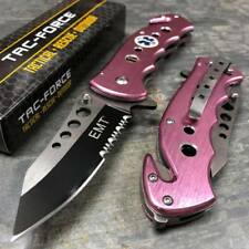 Tac Force Pink Spring Open Emergency EMT EMS Rescue Handy Medical Pocket Knife