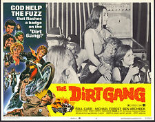 MOTORCYCLE GANG orig 1972 lobby card THE DIRT GANG/PAUL CARR 11x14 movie poster