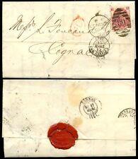 GB QV 1872 Threepence PIASTRA 7 su Coperchio per cognac.. Londra joint stock Banca + GUARNIZIONE