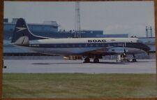 Postcard of BOAC Vickers Viscount (G-AMOG)