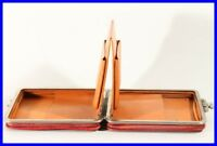 D.R.P 1930's expanding leather pouch / fits about 30 fountain pens 100 Pelikan