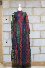Zibi London Ladies Lace Dress in Multi colour UK 8