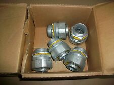"""5pc Cooper LT100 Straight Male Connector  1""""  NEW IN BOX"""