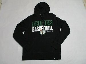 Boston Celtics Sweater Adult Small Black Green NBA Basketball Hoodie Mens