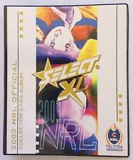 2003 NRL XL SELECT RUGBY LEAGUE TRADING CARD ALBUM