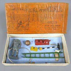 Vintage Crescent Toys Solid Lead Deep Sea Diver    153