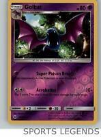2017 pokemon Sun & Moon reverse holo Golbat 55/149