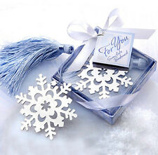 FD3378 X'mas Snowflake Creative Exquisite Alloy Bookmarks With Ribbon Box Gift
