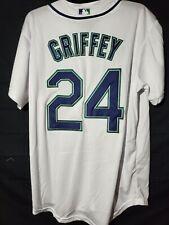 Ken Griffey Jr #24 Seattle Mariners Home Jersey White Men's Medium
