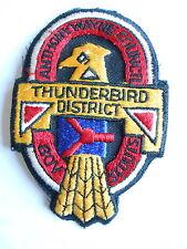 Vintage Anthony Wayne Council BSA Boy Scouts Thunderbird District Cloth Patch