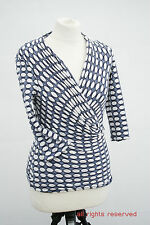 L228/42 Phase Eight Sexy Jersey Wrap Top , size 10
