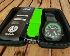 Makara Sea Serpent Black & Green 42 mm PVD Coated Automatic w Rubber Strap