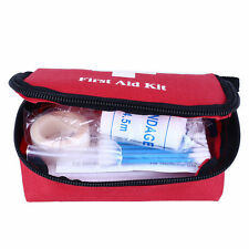 Portable Outdoor First Aid Kit Red Camping Emergency Survival Waterproof Bag XC
