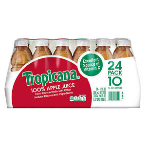Tropicana 100% Apple Juice 10 oz., 24 pk.