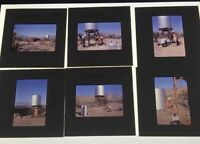 Lot Of 7 Vintage Color Photo Slides of Working The Homestead