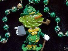 "St. Patrick'S Day ""Cabbage Head Guy"" Necklace Mardi Gras Bead Leprechaun (B727)"
