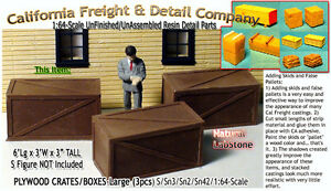 Scale Model Masterpieces/Yorke Plywood Crates-Large (3pcs) S/1:64