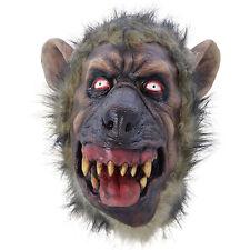 Para hombre de miedo Mad Dog Hiena Wild mal Fancy Dress Costume Máscara De Latex Halloween Nueva