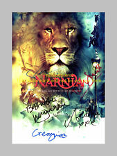 THE CHRONICLES OF NARNIA CAST x5 PP SIGNED POSTER 12X8