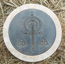 "Gothic stepping stone mold Pagan Wicca Celtic plaster concrete mould 10"" x 1.5"""