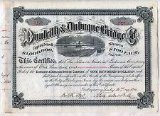 Dunleith & Dubuque Bridge Co. Stock Certificate Railroad Iowa Stuyvesant Fish