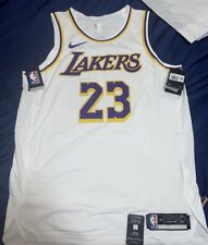 Authentic Nike Lebron James Los Angeles Lakers Association Jersey Size M 44