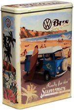 Nostalgische VW Bulli Bus Auto Car Vorratsdose L Küchendose Blechdose Dose DOL27
