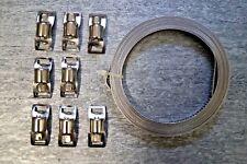3 m Endlos Schlauchschellen Band + 8 x Klemme Schlauchklemme Schlauchschelle