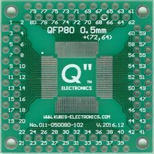 """QFP80 0.50mm(0.02"""") to 4 x IDC2x10 connector. [CA]"""