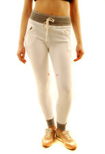 Sundry Womens Casual Contrast Sweatpants White Size US 1