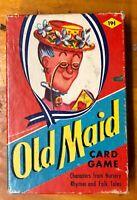 Vintage Old Maid Card Game EEFairchild Nursery Rhymes Black Sambo RARE COMPLETE!