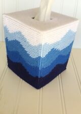 Blue Waves Tissue Cover handmade Boutique size