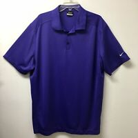 Mens Nike Golf Dri Fit Purple Short Sleeve Athletic Polo Shirt Size Sz XXL TTG